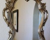 Decorative Vintage Framed Wall Mirror-'RaRe' Baroque Ornate Vintage Frame Magnetic Chalkboard or Memo Board-Bronze-Gold
