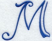 Formal Single Initial Monogram Embroidered Hand Towel