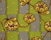 Amy Butler Lotus Collection Water Lily in Brown  1\/2 Yard