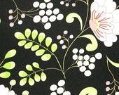 SALE SALE SALE   Dena Designs Snow Flower Home Decor Snow Berry in black  1/2 yard