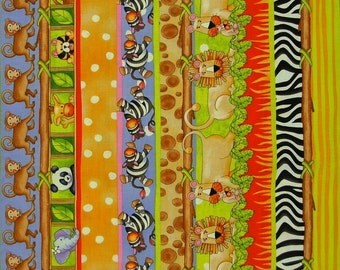 STUDIOe  Jungle Jungle  Jungle Sampler Stripe   Fat Quarter