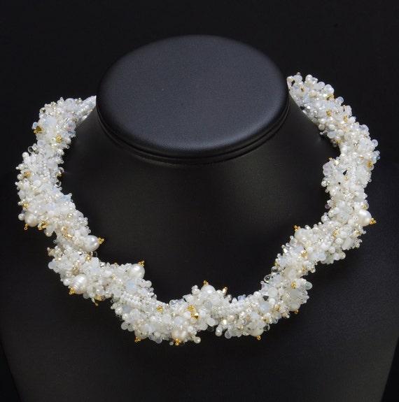 Enchanting Ice: A Beadwoven Necklace
