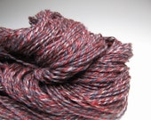 Leather and Lace, Handspun, 3 Ply Yarn with Llama and Tencel, Over 200 Yards