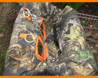 Shopping Cart cover, high chair cover, READY TO SHIP Mossy Oak camouflage camo with  blaze orange