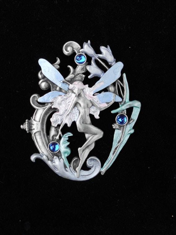 Art Nouveau Fantasy Fairy Brooch
