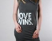 LOVE WINS Dress Asphalt - American Apparel