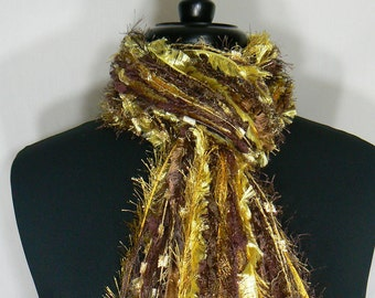 University of Wyoming colors - Team Scarves College Scarf -  Shades of Brown, Yellow and Gold