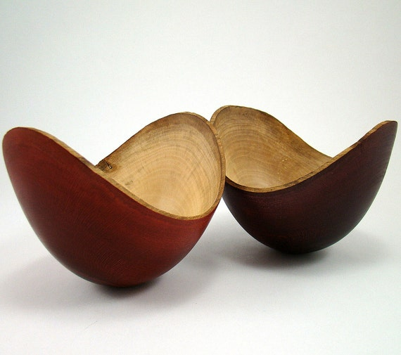 Dark Elegance - Sycamore Bowls(reserved for RoweDesigns)