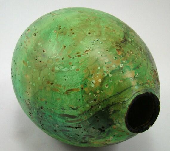 Emerald Caverns - Box Elder Burl Vessel