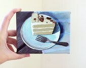 Cake with Pecans - Original Mini Acrylic Painting