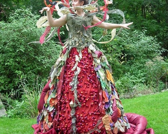 Perelandra- A Fantasy Fiber Art Sculptural Dress