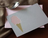 Ice Cream Cone Flat Notes (Pack of 8)