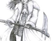 character illustration -- angry barbarian