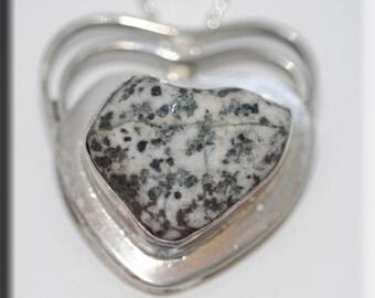 Heart River Rock Pendant