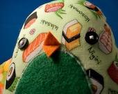 Bird Plush - Wasabi the Sushi-Loving Wren