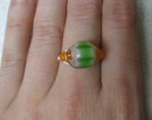 Watermelon Wire Wrapped Ring - Size 7.5