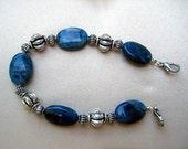 Beaded Interchangeable Bracelet Watch Band with Blue Crazy Jasper