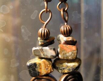 Leopard Skin Dangle Earrings