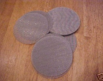 25 Stainless Steel Screen Filter Disks Blanks Size 4 Inch Wire Cloth