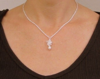 Freshwater Pearl Necklace Bridal and Bridesmaids Cluster Freshwater, Shorter n Sweeter