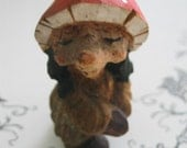 Scandinavian Elf or Wood Faery Fairy Troll Awesome Sweet Little Vintage Piece