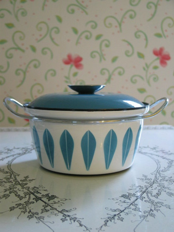Catherineholm Blue Lotus Pattern Dutch Oven Pot Norway Catherine Holm Vintage