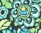 1 Yard of Amy Butler Daisy Chain Deco Rose Fabric in Navy