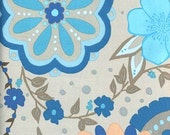Valori Wells Olive Rose Medallion Fabric 100% cotton color VW10 Blue All fabrics shipped via PRIORITY MAIL.
