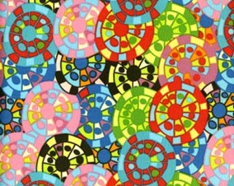 RARE Riviera Hubcap red 100% cotton fabric from Free Spirit All fabric is mailed via PRIORITY MAIL