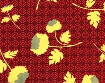 Rare Joel Dewberry Ginseng Collection Tossed Flowers Color Raspberry All Fabric is Shipped via Priority mail