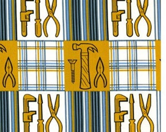 1 yard Douglas Day Be a Man Fixed Plaid Color Gold