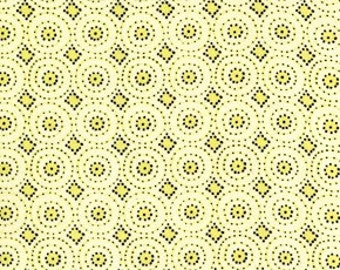 1 Yard Dena Designs Snow Flower Snow Circles Color Yellow