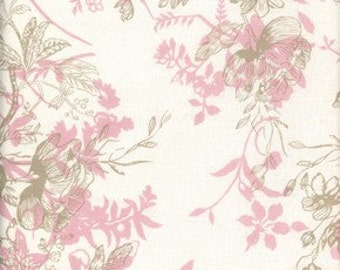 Very Rare 1 Yard Annette Tatum House Collection Lisette Color Pink