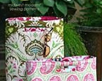 30% Off amy butler Chelsea Bags Reversible Large Tote  Handbag Midwest Modern Sewing Pattern Pattern
