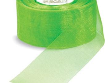 "Midori Organdy Ribbon 3/4"" Color Chartreuse"