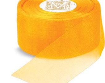"Midori Organdy Ribbon 3/4"" Color Buttercup"
