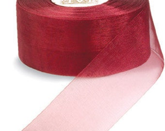 "Midori Organdy Ribbon 3/4"" Color Brick"