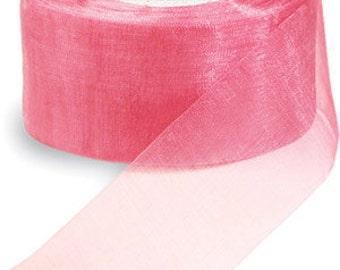"""Midori Organdy Ribbon 3/4"""" Color Mauve"""