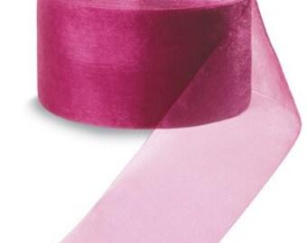"""Midori Organdy Ribbon 3/4"""" Color Cosmopolitan"""