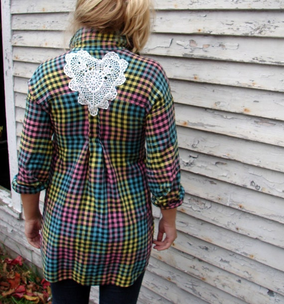 FINAL CLEARANCE All Neon Plaid Tunic