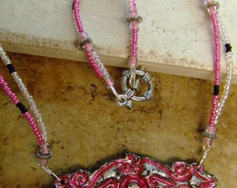 In the Pink From the Past Necklace SALE