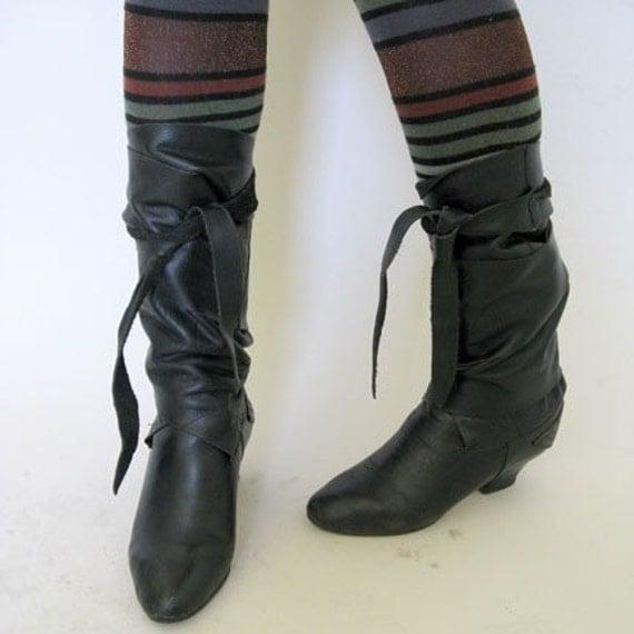 vintage crazy WRAP A ROUND boots size 6
