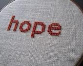 Hope modern cross stitch