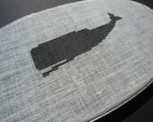 Whale modern cross stitch