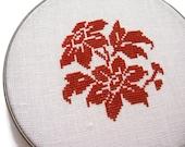Floral modern cross stitch