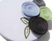 Wallflowers modern cross stitch