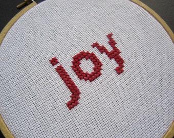Joy modern cross stitch