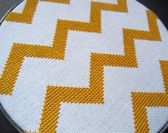 Chevron modern cross stitch