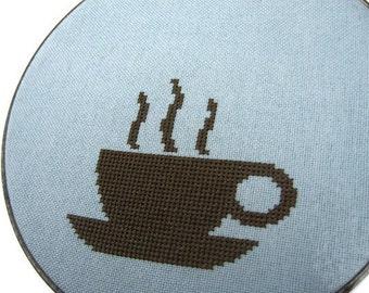 Coffee modern cross stitch