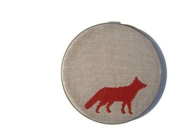 Fox modern cross stitch pattern